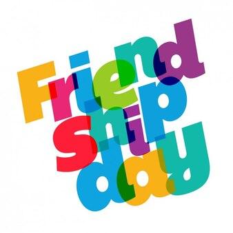 Tarjeta del día de la amistad colorida