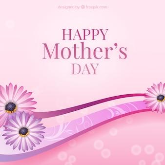 Tarjeta del día de la madre con flores