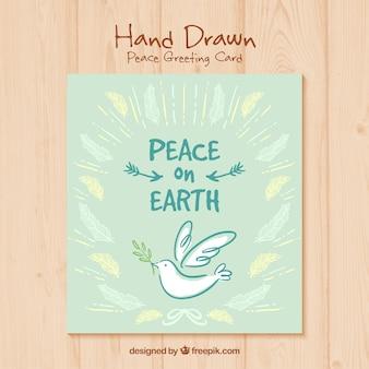 tarjeta del día de la paz pintada a mano