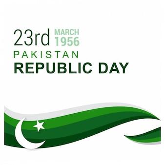 Tarjeta del Día de la República de Pakistán