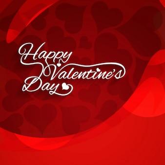 Tarjeta del Día de San Valentín de color rojo
