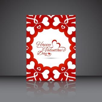 Tarjeta del día de San Valentín hermosa