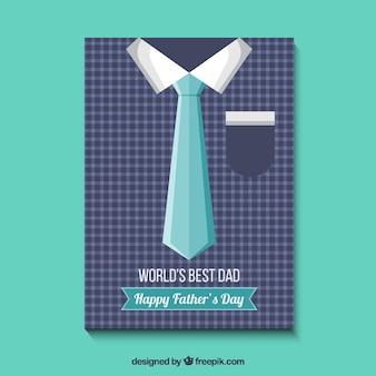 Tarjeta del día del padre con camisa y corbata