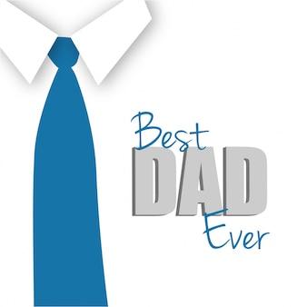 Tarjeta del día del padre con corbata azul
