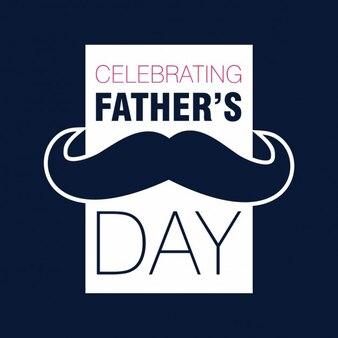 Tarjeta del día del padre con un bigote retro
