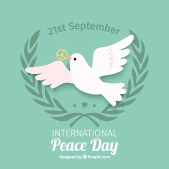 Tarjeta del día internacional de la paz