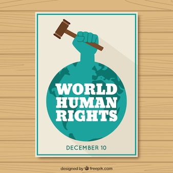 Tarjeta del día mundial de los derechos humanos