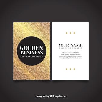 Tarjeta dorada brillante corporativa