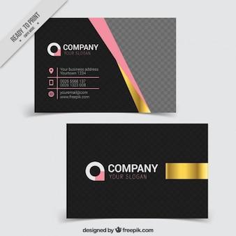 Tarjeta elegante corporativa