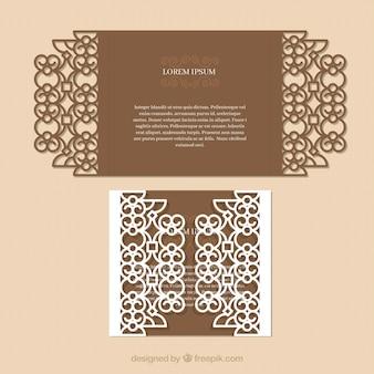 Tarjeta elegante ornamental
