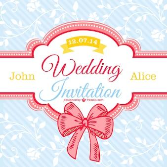 Tarjeta floral de boda estilo vintage
