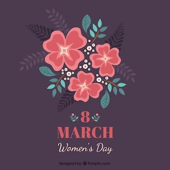 Tarjeta floral del día de la mujer