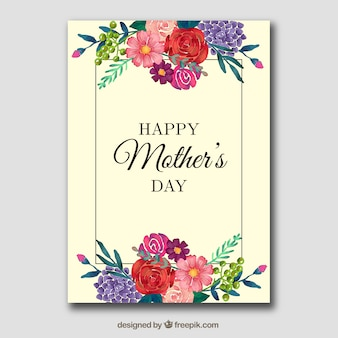 Tarjeta floral para el día de la madre