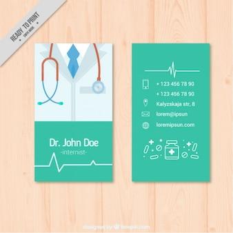 Tarjeta médica con fonendoscopio