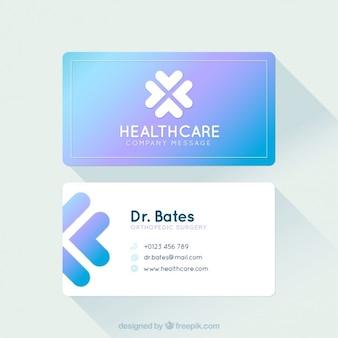 Tarjeta moderna de asistencia médica
