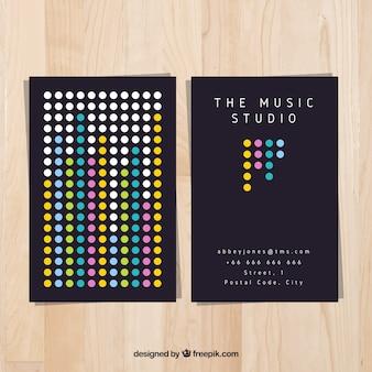 Tarjeta moderna de estudio de música