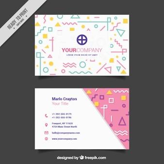 Tarjeta moderna de negocios con formas originales