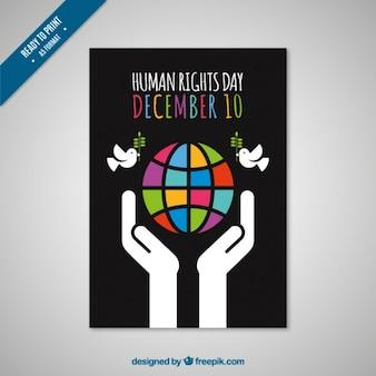 Tarjeta negra del día de los derechos humanos