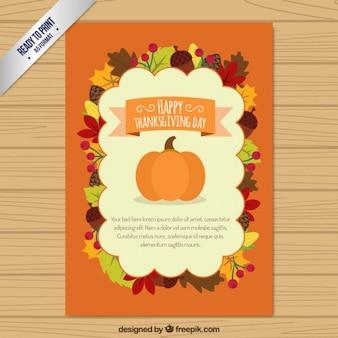 Tarjeta plana de Acción de Gracias