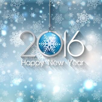 Tarjeta resplandeciente de Nuevo Año 2016