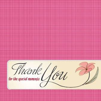 Tarjeta rosa de agradecimiento