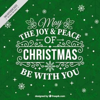 Tarjeta verde con inspirador mensaje navideño
