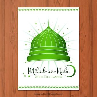 Tarjeta verde de Mawlid
