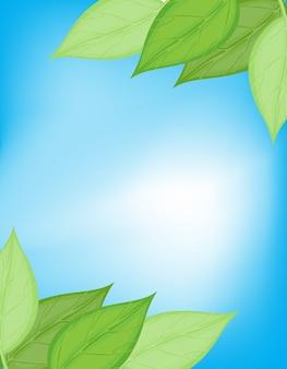 Tarjeta verde y azul de la naturaleza