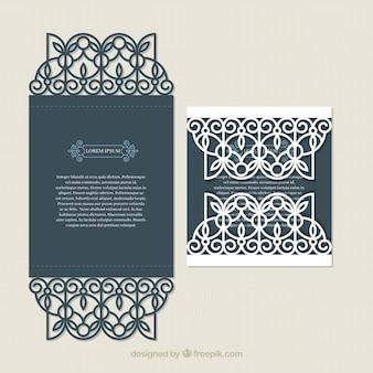Tarjeta vintage con decoración elegante