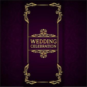 Tarjeta vintage de celebración de boda