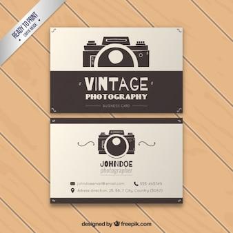 Tarjeta vintage de negocio de fotografía
