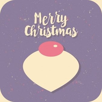 Tarjeta violeta de navidad