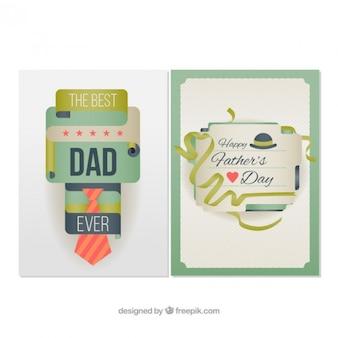 Tarjetas abstractas y originales del día del padre