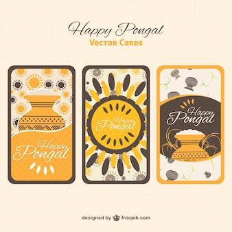Tarjetas de felicitación de feliz Pongal