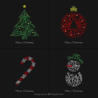 Tarjetas de navidad geométricas