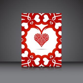 Tarjetas de San Valentín elegante