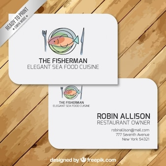Tarjetas de visita de restaurante