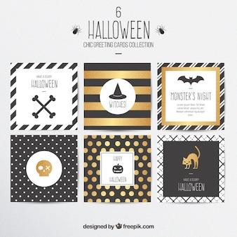 Tarjetas elegantes de felicitación de halloween