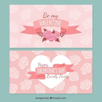 Tarjetas florales de San Valentín