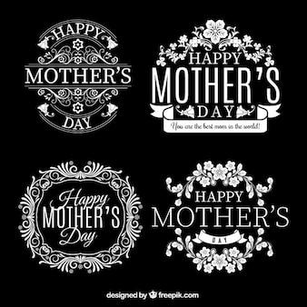 Tarjetas retro para el día de las madres