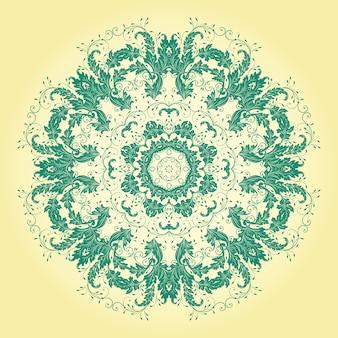 Tatuaje de la repetición de la postal del cordón floral