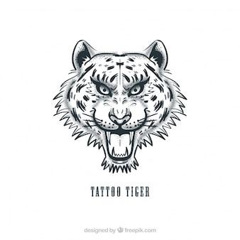 Tatuaje vector principal del tigre