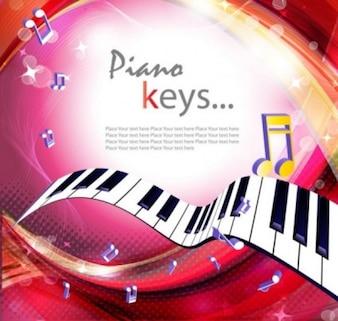 Teclas de piano de fondo musical