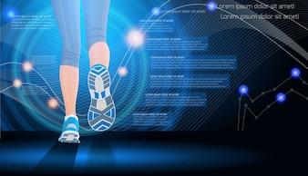 Tecnología de fondo de deporte