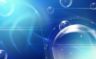 tecnología de vectores estilo de fondo azul