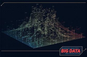 Tecnología pantalla ruido colorido grande