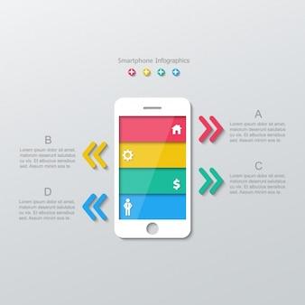 Teléfono inteligente con barras de colores