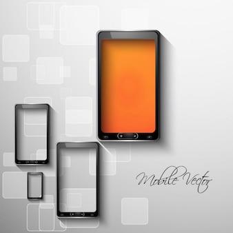 Teléfono móvil de fondo abstracto