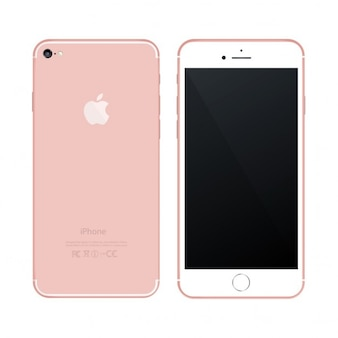 Teléfono móvil rosa