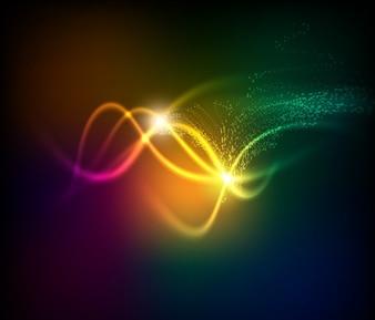 Telón de fondo la tecnología que brilla intensamente abstracto acción